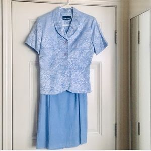 SAG HARBOR Blue SKIRT SUIT Size 10